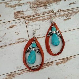 Lasso Turquoise Angel Earrings